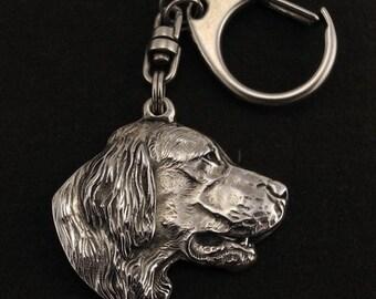 Setter, dog keyring, keychain, limited edition, ArtDog . Dog keyring for dog lovers