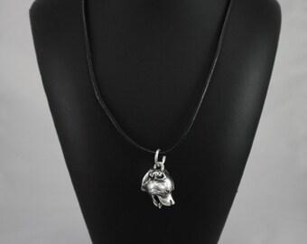 English Staffordshire Bull Terrier (3D medallion), dog necklace, limited edition, ArtDog