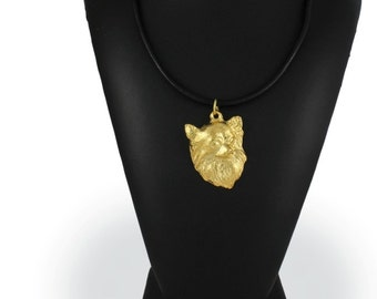 Chihuahua (longhaired), millesimal fineness 999, dog necklace, limited edition, ArtDog