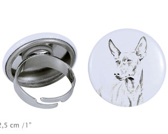 Ring with a dog- Cirneco dell'Etna