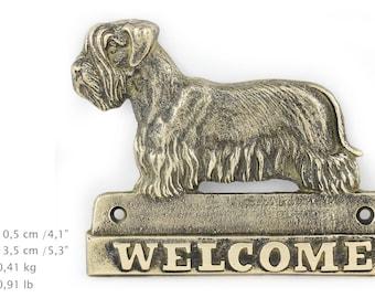 Cesky Terrier, dog welcome, hanging decoration, limited edition, ArtDog