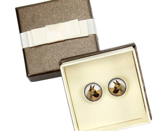 Great Dane cropped. Cufflinks with box for dog lovers. Photo jewellery. Men's jewellery. Handmade