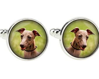 Azawakh. Cufflinks for dog lovers. Photo jewellery. Men's jewellery. Handmade