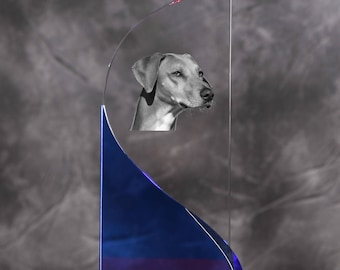 Azawakh- crystal statue in the likeness of the dog