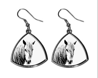 Giara horse, collection of earrings with images of purebred horses, unique gift. Collection!