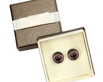 Leoneberger. Cufflinks with box for dog lovers. Photo jewellery. Men's jewellery. Handmade