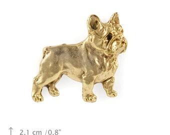 French Bulldog, millesimal fineness 999, dog pin, limited edition, ArtDog