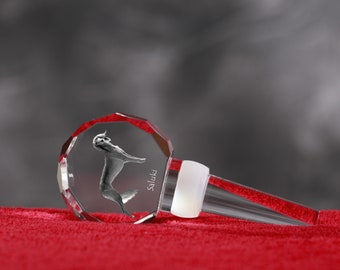 Saluki, Crystal Wine Stopper with Dog, Wine and Dog Lovers, High Quality, Exceptional Gift. NEW COLLECTION