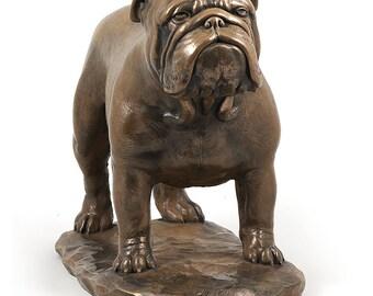 Bulldog, exclusive dog on base statue, limited edition, ArtDog