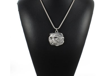 NEW, Cat, cat necklace, silver cord 925, limited edition, ArtDog