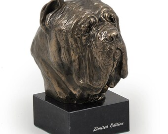 Mastino Nepolitano, dog marble statue, limited edition, ArtDog. Made of cold cast bronze. Solid, perfect gift. Limited edition.