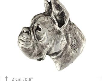 Boxer, dog pin, limited edition, ArtDog