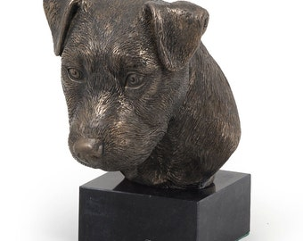 Jack Russel Terrier, dog marble statue, limited edition, ArtDog. Made of cold cast bronze. Solid, perfect gift. Limited edition.