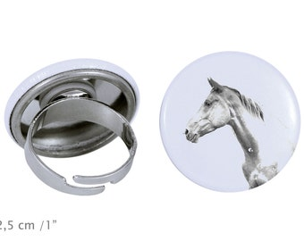 Ring with a horse - Akhal-Teke