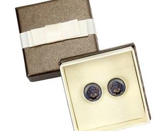 Teckel Wirehaired, Dachshund. Cufflinks with box for dog lovers. Photo jewellery. Men's jewellery. Handmade