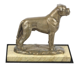 Bullmastiff , dog sand marble base statue, limited edition, ArtDog. Made of cold cast bronze. Perfect gift. Limited edition