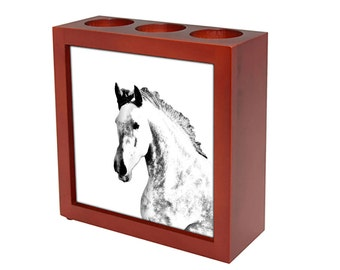 Andalusian -  Wooden stand for candles/pens with the image of a Horse ! NEW COLLECTION!