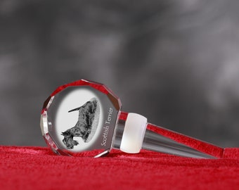 Scottish Terrier, Crystal Wine Stopper with Dog, Wine and Dog Lovers, High Quality, Exceptional Gift. NEW COLLECTION