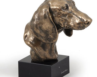 Dachshund, dog marble statue, limited edition, ArtDog. Made of cold cast bronze. Perfect gift. Limited edition