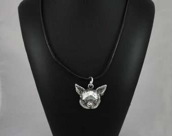 Chihuahua (smooth haired), dog necklace, limited edition, ArtDog