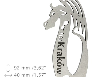 NEW, Dragon 17 Cracow, bottle opener, stainless steel, different shapes, limited edition