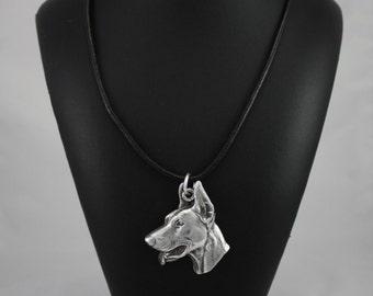 Doberman Pinscher, dog necklace, limited edition, ArtDog