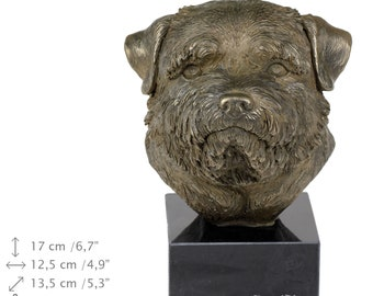 Norfok Terrier, dog marble statue, limited edition, ArtDog. Made of cold cast bronze. Perfect gift. Limited edition