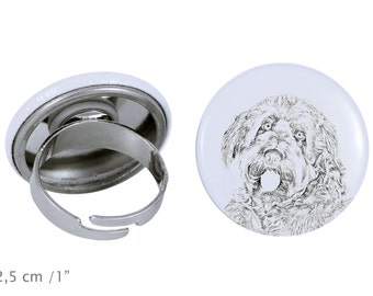 Ring with a dog- Otterhound