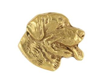 Rottweiler head, millesimal fineness 999, dog pin, limited edition, ArtDog