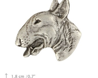 Bull Terrier (head), dog pin, limited edition, ArtDog