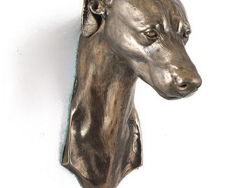 Grey Hound, dog hanging statue, limited edition, ArtDog