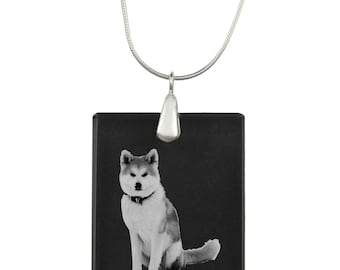 Akita Inu, Dog Crystal Pendant, SIlver Necklace 925, High Quality, Exceptional Gift, Collection!
