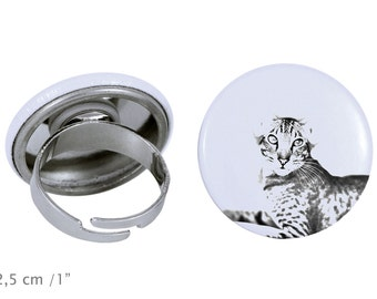 Ring with a cat - Oriental cat