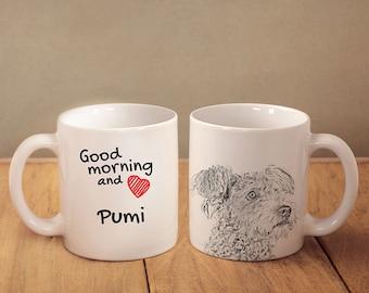 "Pumi - a mug with a dog. ""Good morning and love..."". High quality ceramic mug. NEW COLLECTION! Dog Lover Gift, Christmas Gift"