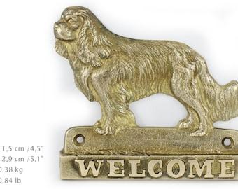 Cavalier King Charles Spaniel, dog welcome, hanging decoration, limited edition, ArtDog