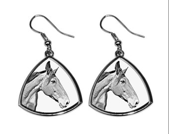 Australian Stock Horse, collection of earrings with images of purebred horses, unique gift. Collection!