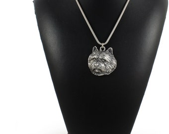 NEW, Norwich Terrier, dog necklace, silver cord 925, limited edition, ArtDog