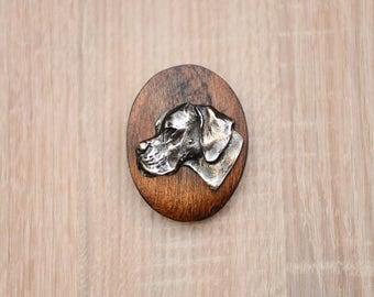 English Pointer, dog show ring clip/number holder, limited edition, ArtDog