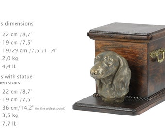 Additional payment for urn -Dachshund. Special listing Cremation box, Custom urn.