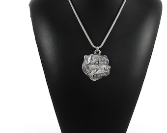 NEW, Norfolk Terrier, dog necklace, silver cord 925, limited edition, ArtDog