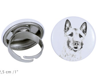 Ring with a dog- Laekenois