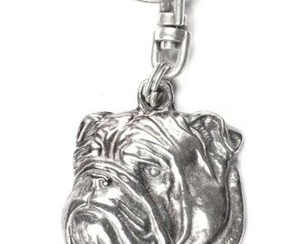 NEW, Bulldog, dog keyring, key holder, limited edition, ArtDog . Dog keyring for dog lovers