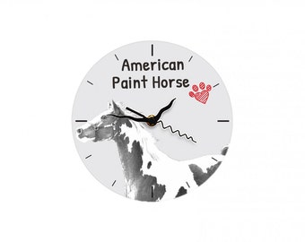American Paint Horse, Free standing MDF floor clock with an image of a horse.