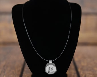 Russian Blue - NEW collection of necklaces with images of purebred cats, unique gift, sublimation