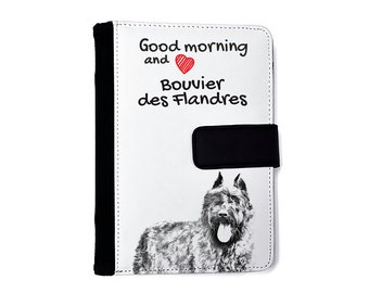 Flandres Cattle Dog- Notebook with the calendar of eco-leather with an image of a dog! NEW COLLECTION!