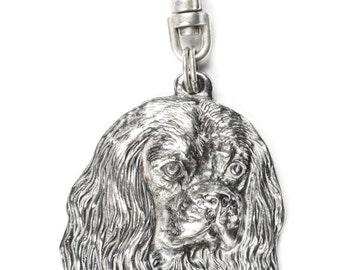 NEW, Cavalier King Charles Spaniel, dog keyring, key holder, limited edition, ArtDog . Dog keyring for dog lovers