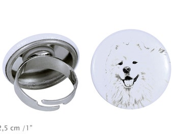 Ring with a dog - Samoyed