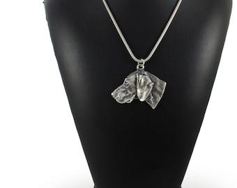 NEW, Weimaraner, Weimaraner Vorstehhund, dog necklace, silver chain 925, limited edition, ArtDog