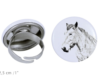 Ring with a horse - Ardennes horse