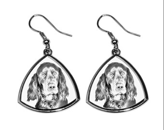 Gordon Setter- NEW collection of earrings with images of purebred dogs, unique gift